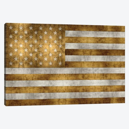 Glory In Gold Canvas Print #LWI8} by Luke Wilson Art Print