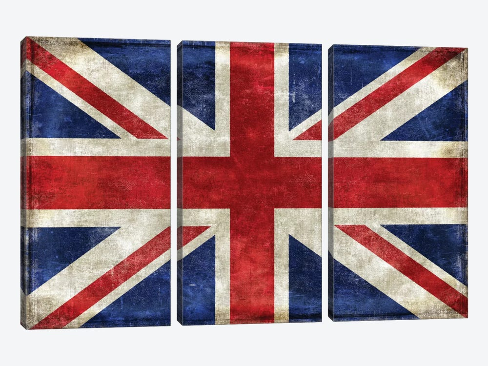 United Kingdom by Luke Wilson 3-piece Canvas Art