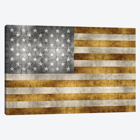 Golden Pledge Canvas Print #LWI9} by Luke Wilson Art Print
