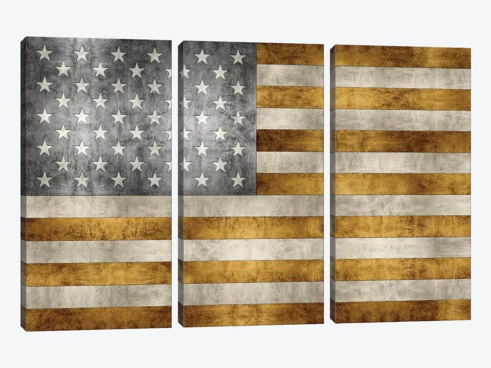 Golden Pledge by Luke Wilson 3-piece Canvas Artwork