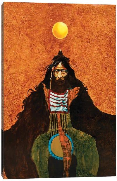 Sun Crow Canvas Art Print