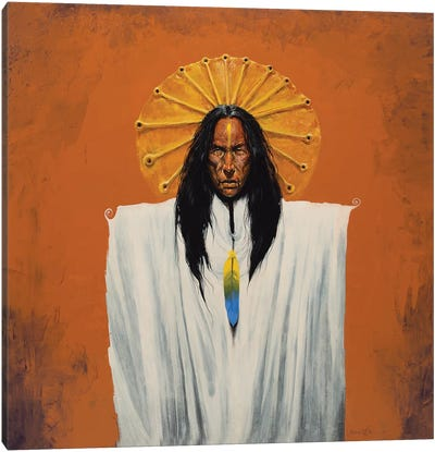 Sun Spirit Shaman Canvas Art Print