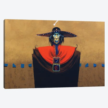 The Collector Canvas Print #LWL35} by Lawrence Lee Canvas Wall Art