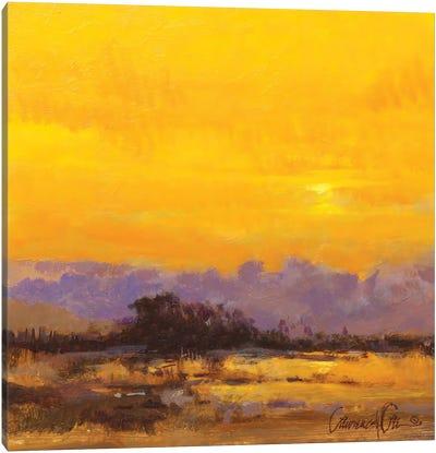 Yellow Morning Canvas Art Print