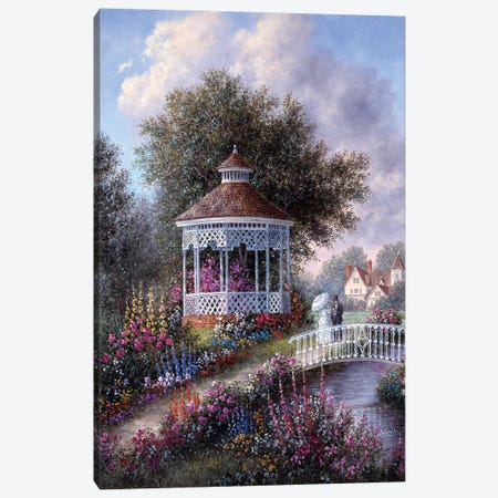 Romance in the Garden Canvas Print #LWN100} by Dennis Lewan Canvas Wall Art