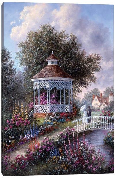 Romance in the Garden Canvas Art Print