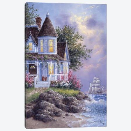 Seaside Victorian Canvas Print #LWN104} by Dennis Lewan Canvas Art Print