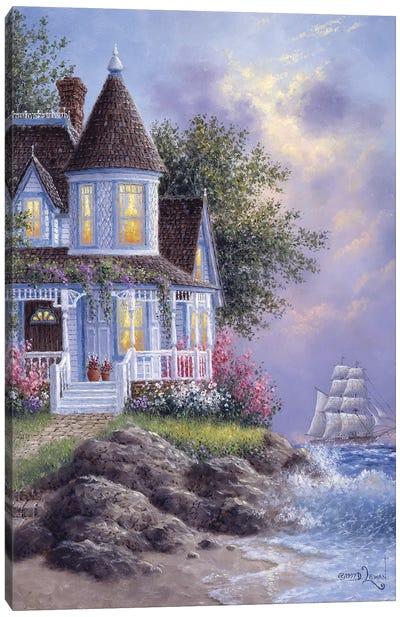 Seaside Victorian Canvas Art Print