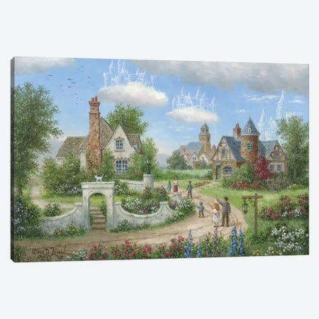 Sky Castles Canvas Print #LWN108} by Dennis Lewan Canvas Artwork