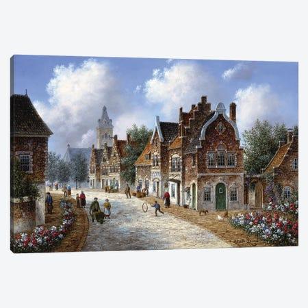 Spring in Amsterdam Canvas Print #LWN110} by Dennis Lewan Canvas Print
