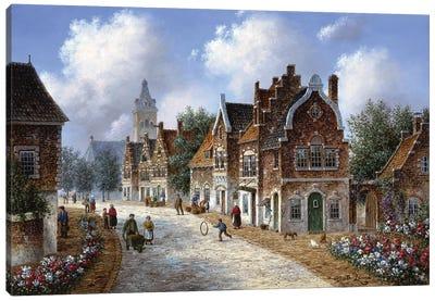 Spring in Amsterdam Canvas Art Print