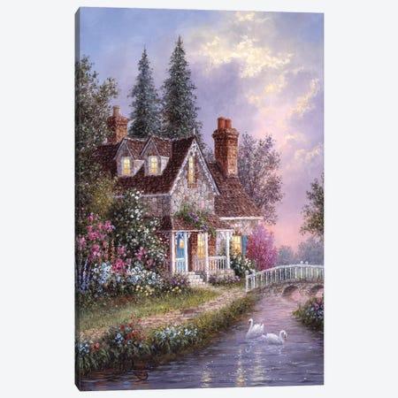 Stonebridge Cottage Canvas Print #LWN112} by Dennis Lewan Canvas Art Print