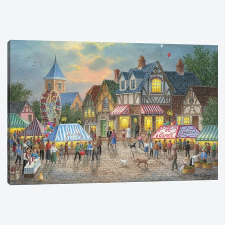 Street Fair Canvas Print #LWN114} by Dennis Lewan Canvas Art