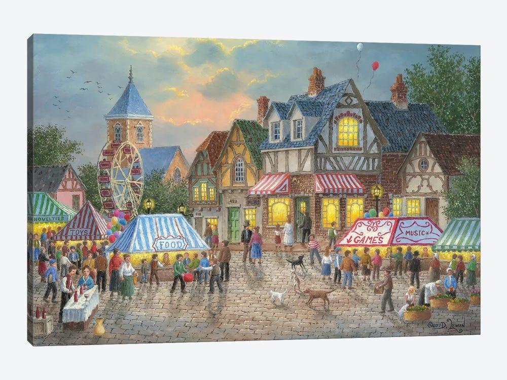 Street Fair by Dennis Lewan 1-piece Art Print
