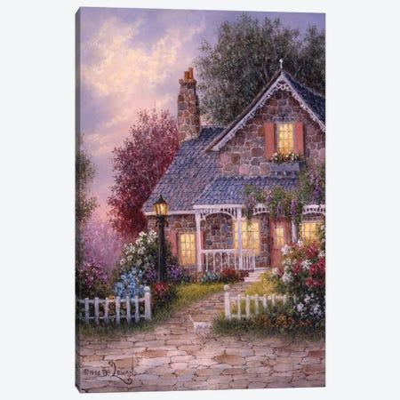 Summer Cottage Canvas Print #LWN115} by Dennis Lewan Canvas Wall Art