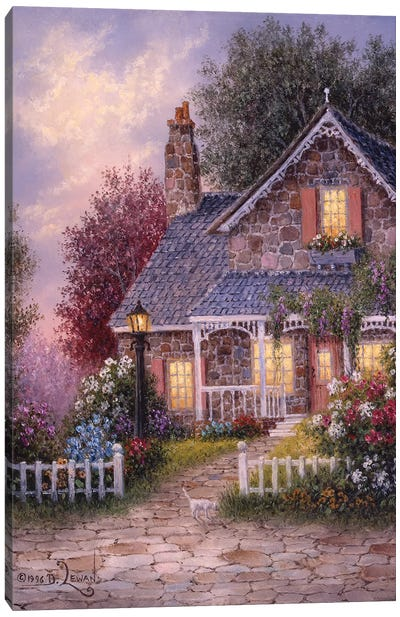 Summer Cottage Canvas Art Print