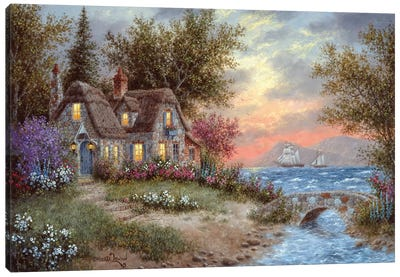 Sunset Over the Bay Canvas Art Print