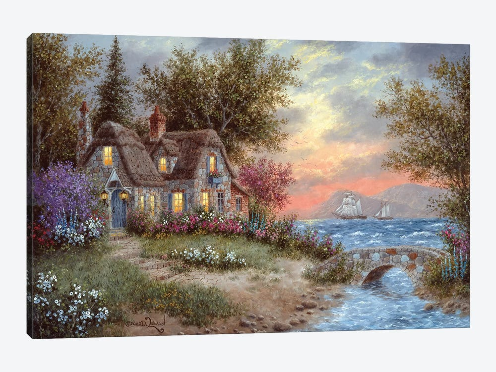 Sunset Over the Bay by Dennis Lewan 1-piece Canvas Wall Art
