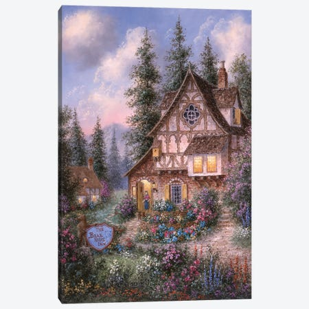 The Bear Haus Inn Canvas Print #LWN123} by Dennis Lewan Canvas Artwork