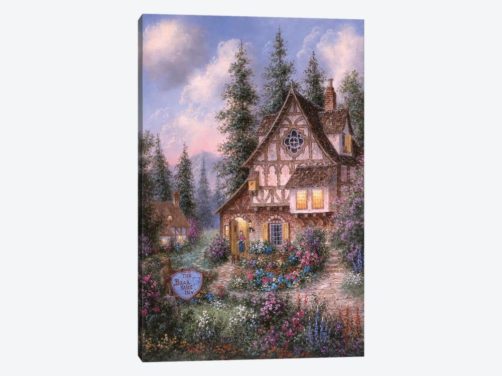 The Bear Haus Inn by Dennis Lewan 1-piece Art Print