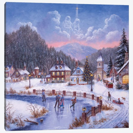 The Gift of Christmas Canvas Print #LWN128} by Dennis Lewan Canvas Wall Art