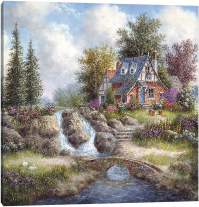 Alpine Falls Canvas Art Print