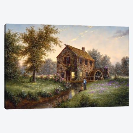 The Watermill Canvas Print #LWN134} by Dennis Lewan Canvas Art