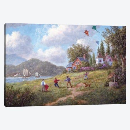 Three Kites to the Wind Canvas Print #LWN136} by Dennis Lewan Canvas Wall Art