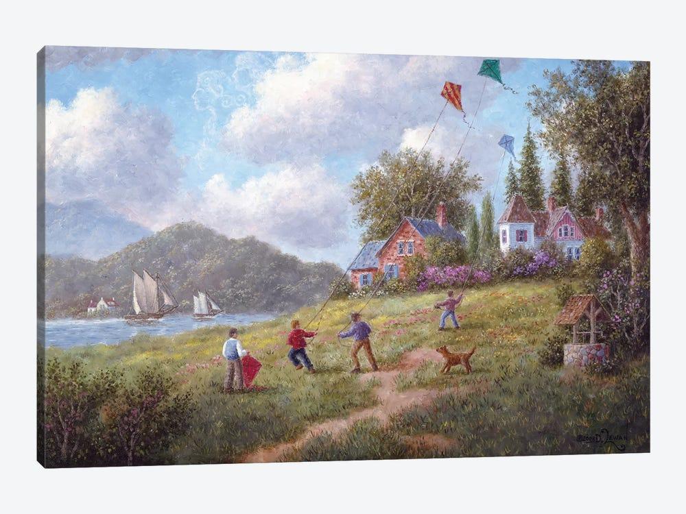 Three Kites to the Wind by Dennis Lewan 1-piece Art Print