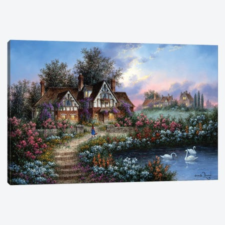 Towbridge Manor Canvas Print #LWN139} by Dennis Lewan Art Print