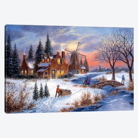 Amber Lights of Holland Canvas Print #LWN13} by Dennis Lewan Canvas Print
