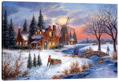 Amber Lights of Holland Canvas Art Print