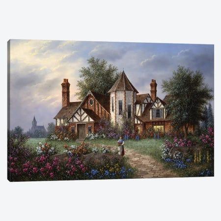 Twilight Manor Canvas Print #LWN141} by Dennis Lewan Canvas Art