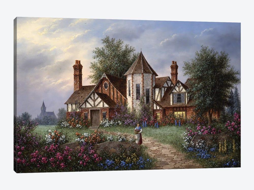 Twilight Manor by Dennis Lewan 1-piece Canvas Print