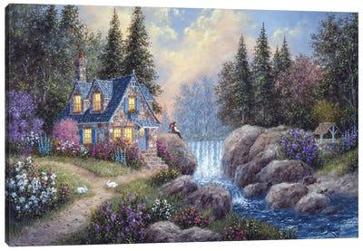 Watching the Falls Canvas Art Print