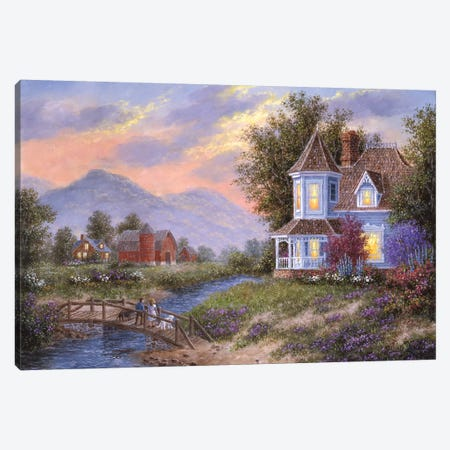Watching the Sunset Canvas Print #LWN147} by Dennis Lewan Canvas Art Print