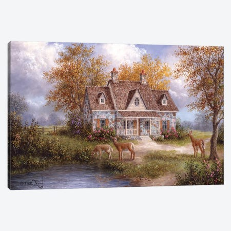 Welcome Company Canvas Print #LWN148} by Dennis Lewan Canvas Art