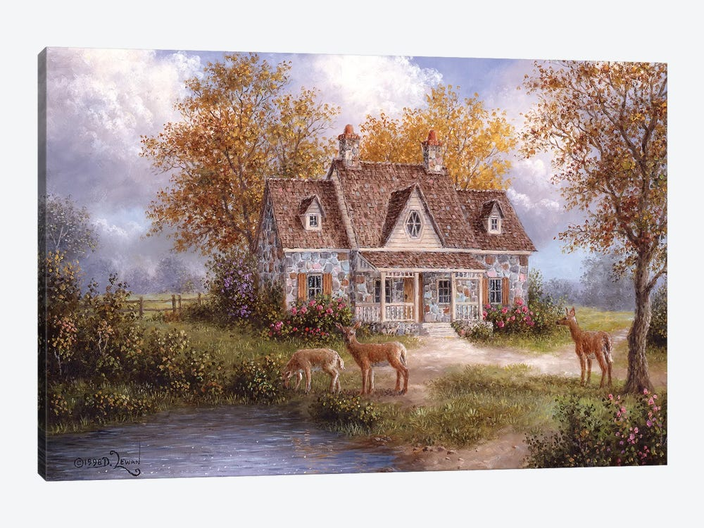 Welcome Company by Dennis Lewan 1-piece Canvas Art