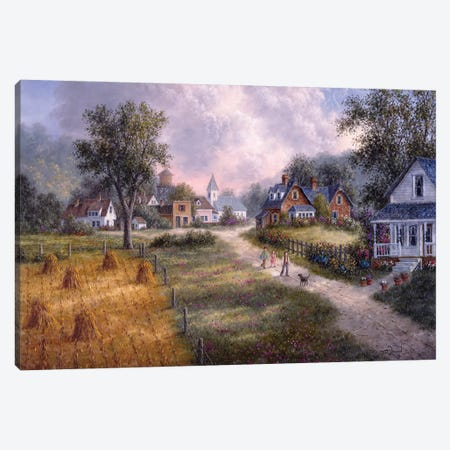 Welcome Home I Canvas Print #LWN149} by Dennis Lewan Canvas Wall Art