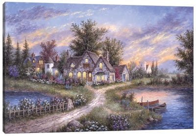 Amber Skies Over England Canvas Art Print