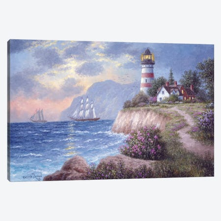 White Cliff Bay Canvas Print #LWN152} by Dennis Lewan Art Print