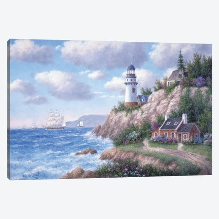 Whitefish Pointe Canvas Print #LWN153} by Dennis Lewan Art Print