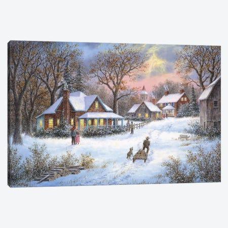 Winter in the Heartland Canvas Print #LWN155} by Dennis Lewan Canvas Art