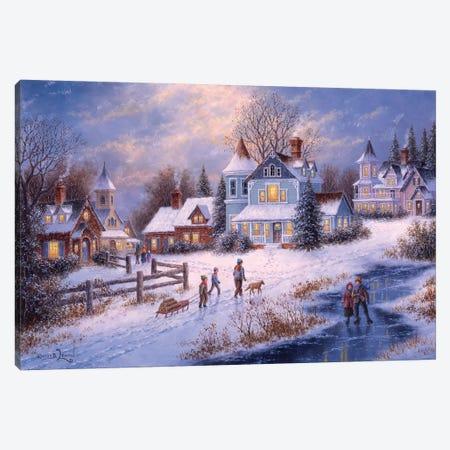 Winter's Charm Canvas Print #LWN157} by Dennis Lewan Canvas Art