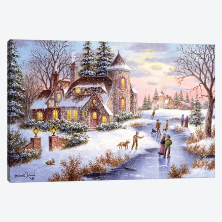 Winter's Joy Canvas Print #LWN158} by Dennis Lewan Canvas Print