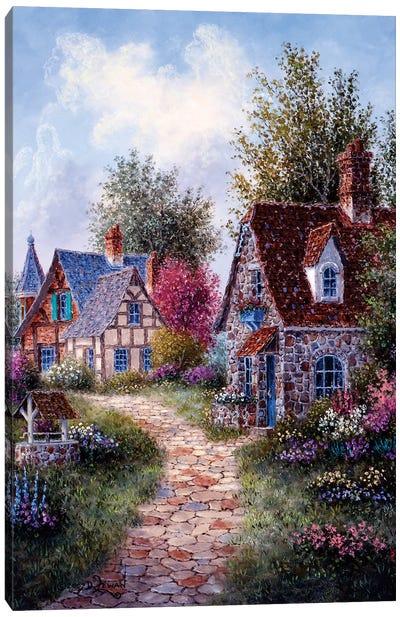 Wishing Well Lane Canvas Art Print