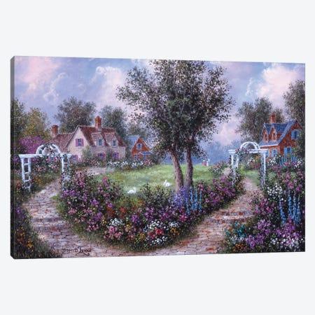 Arbears in the Garden Canvas Print #LWN18} by Dennis Lewan Canvas Art Print