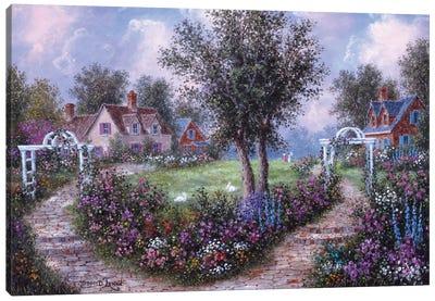 Arbears in the Garden Canvas Art Print