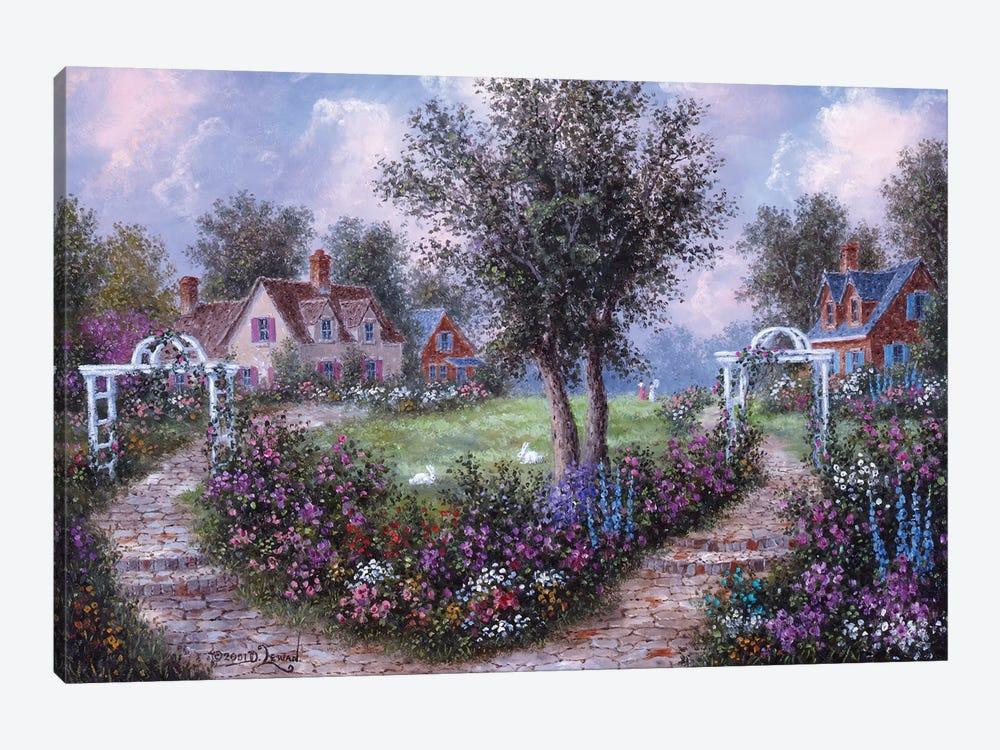 Arbears in the Garden by Dennis Lewan 1-piece Canvas Wall Art