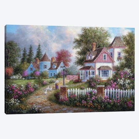 Asheville Lane Canvas Print #LWN19} by Dennis Lewan Canvas Art Print